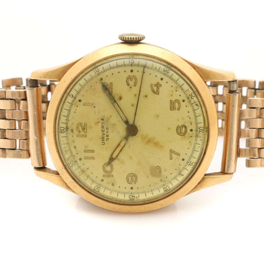 Universal 18K Yellow Gold Wristwatch