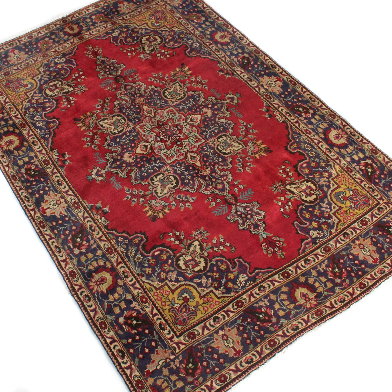7' x 10' Fine Hand-Knotted Persian Tabriz Rug