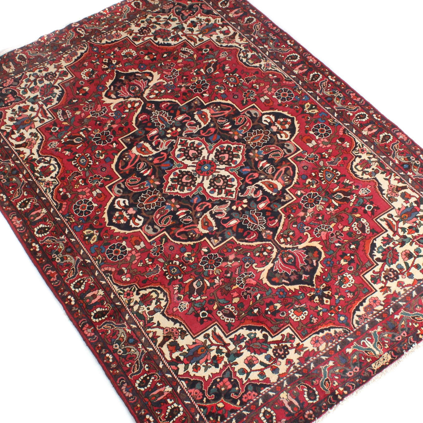 7' x 10' Signed Hand-Knotted Persian Char Mahal Bakhtiari Rug