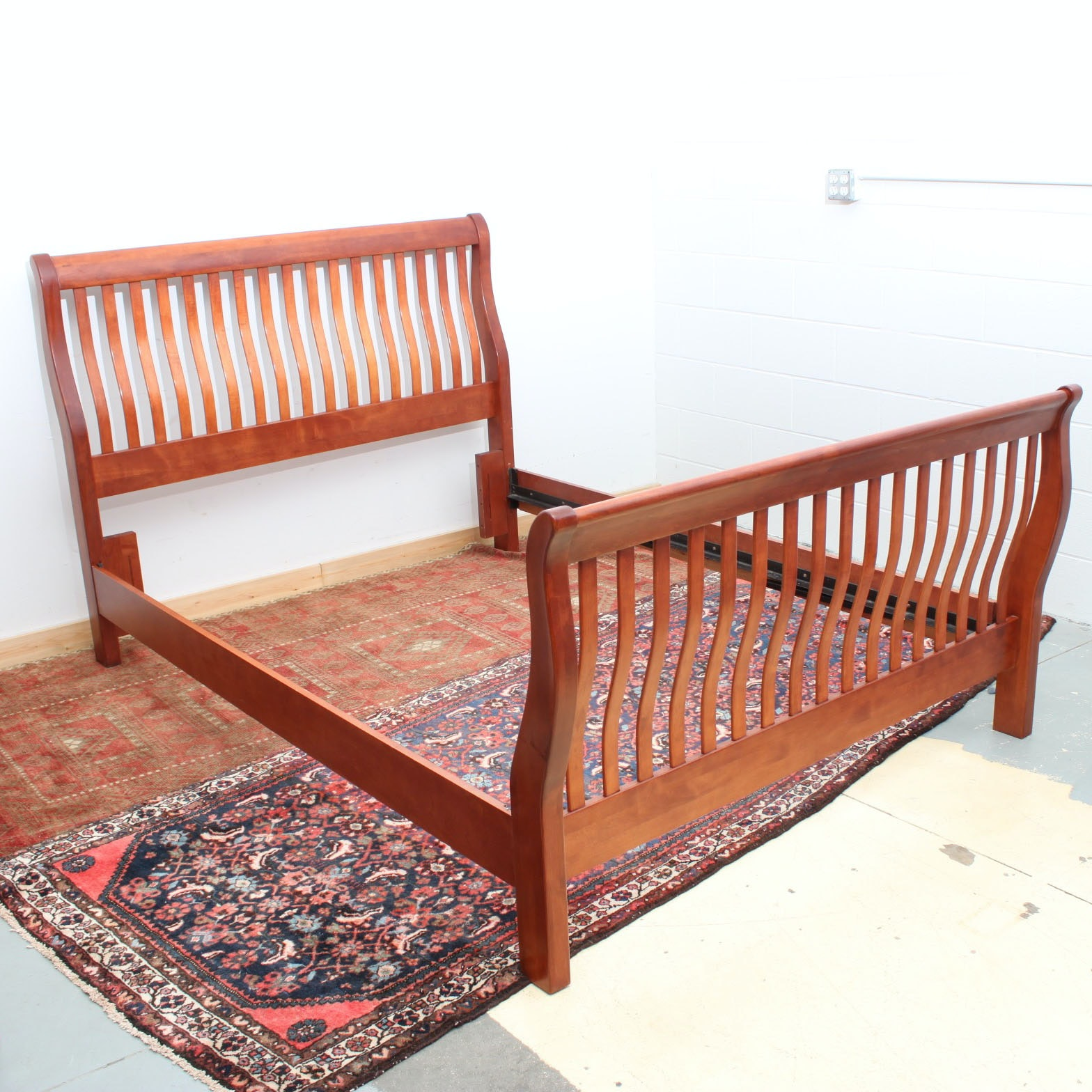 Queen Size Craftsman Style Sleigh Bed Frame