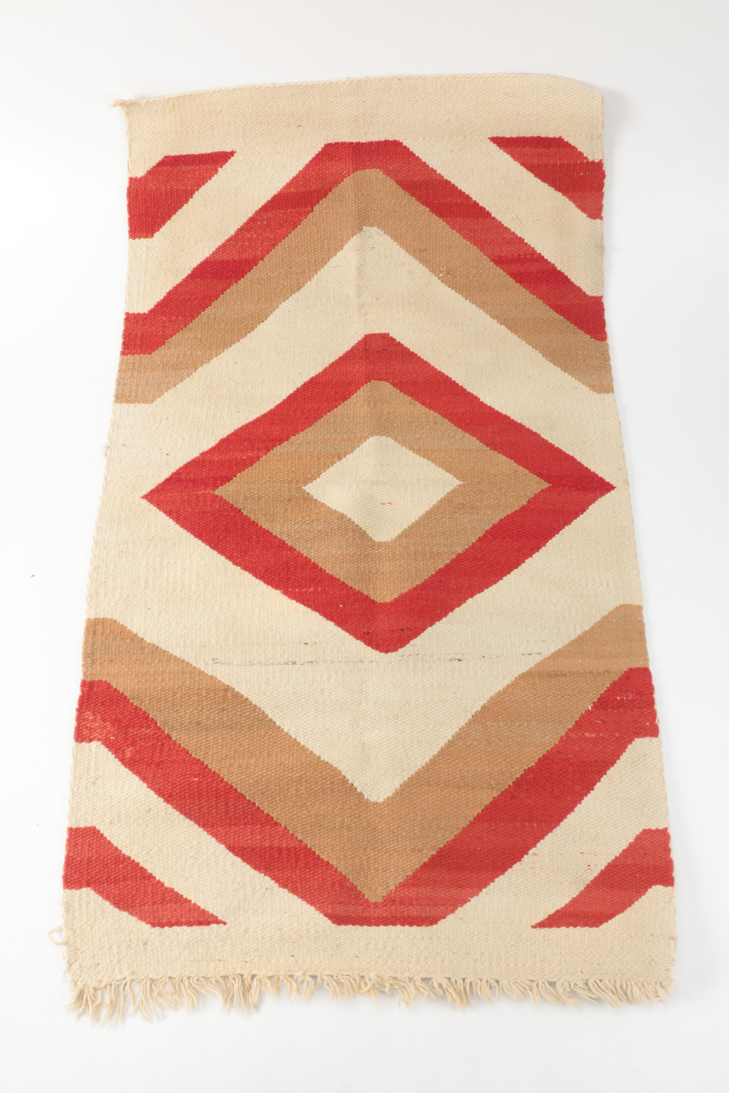 Handwoven Native American Style Accent Rug