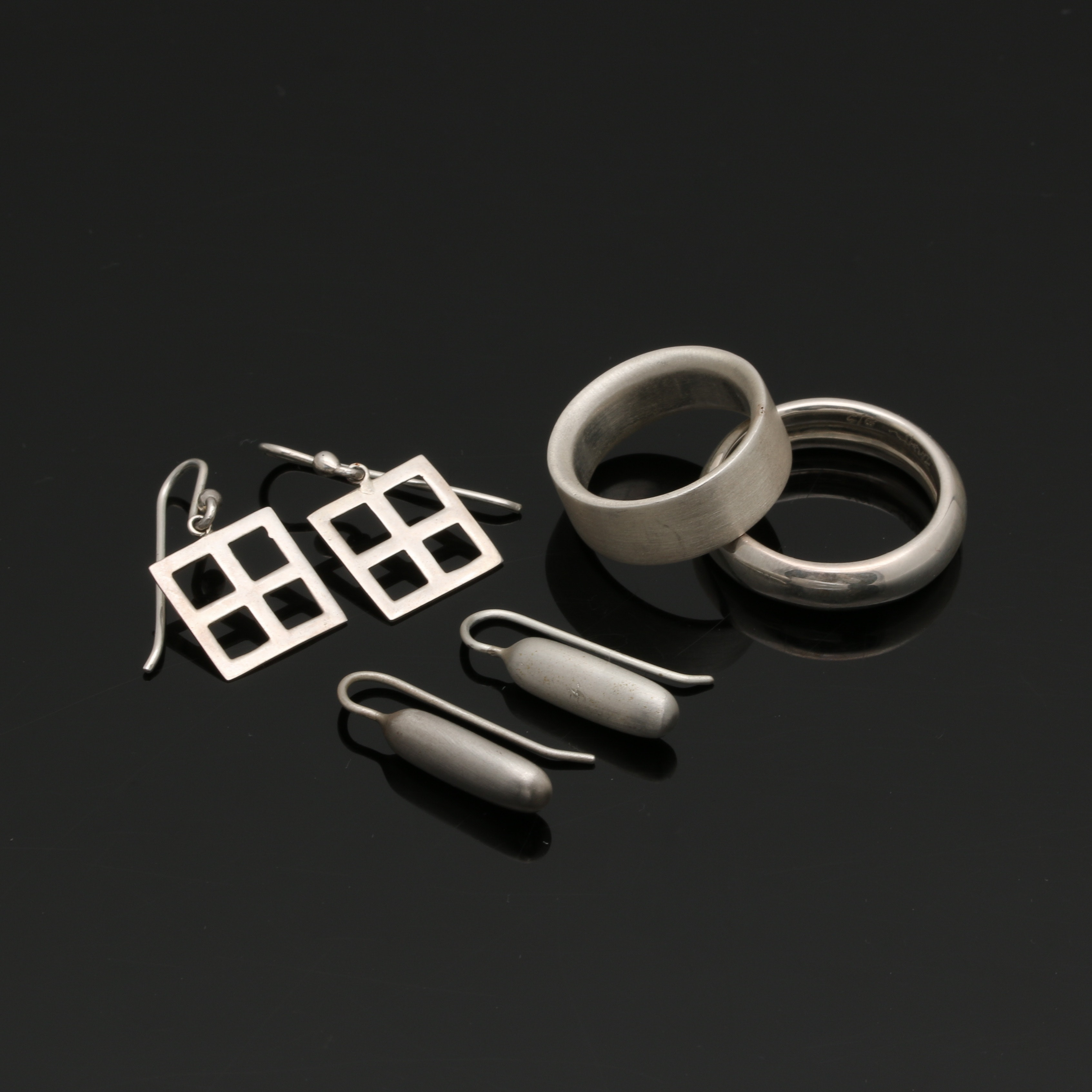 Assortment of Bill Schiffer Sterling Silver Rings and Earrings