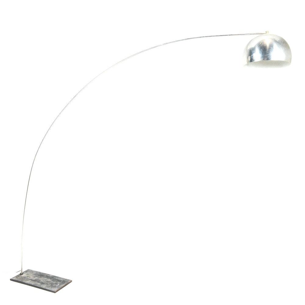 Mid Century Modern Cantilevered Arc Floor Lamp
