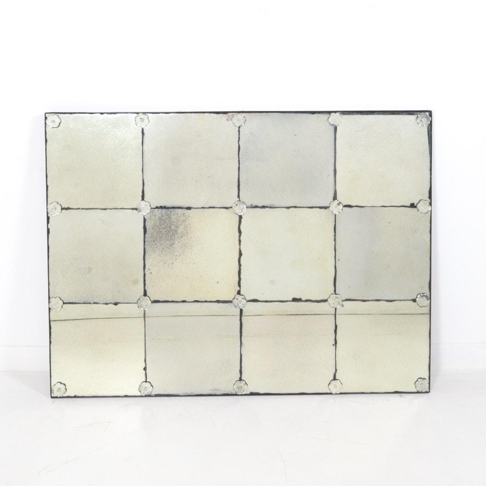 Grid Design Venetian Glass Wall Mirror