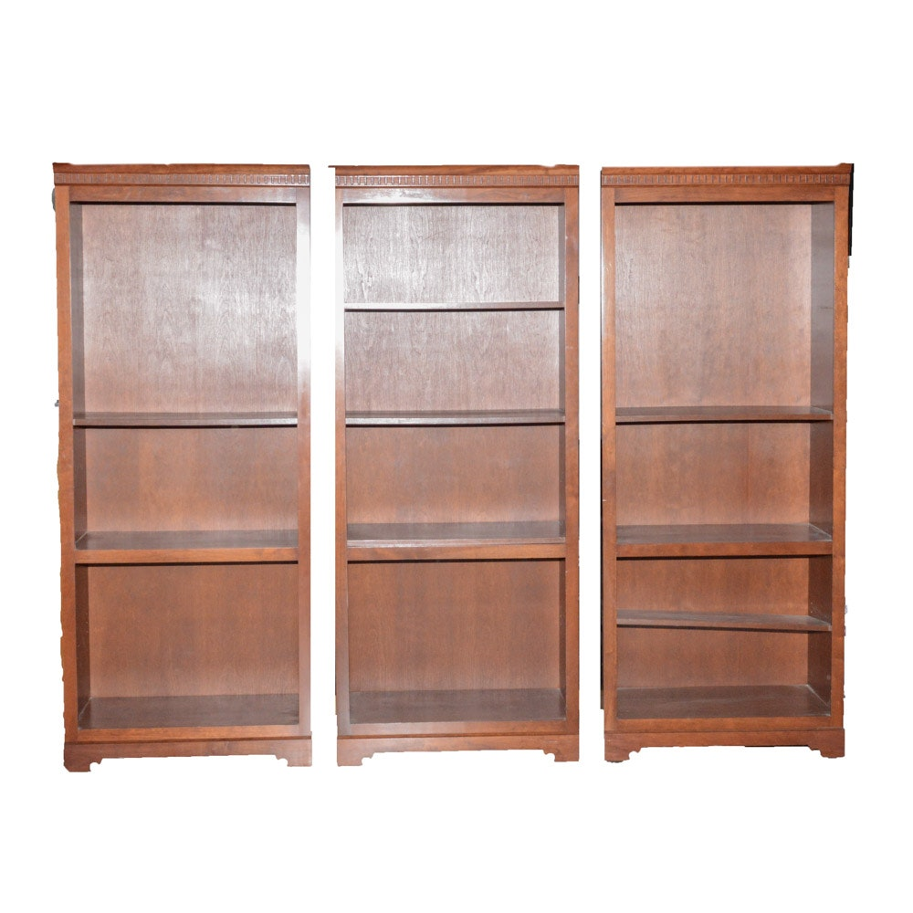 Cherry Veneer Bookshelves