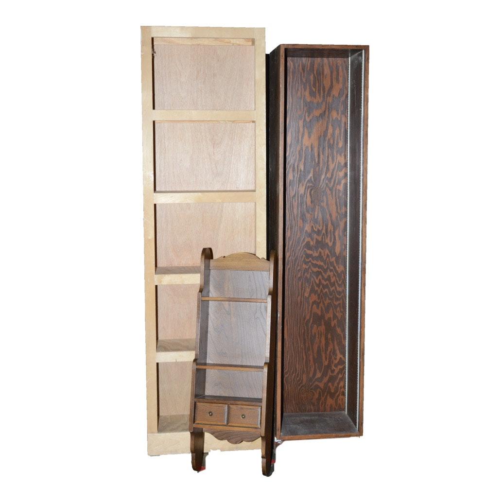 Wall Shelf and Storage Shelves