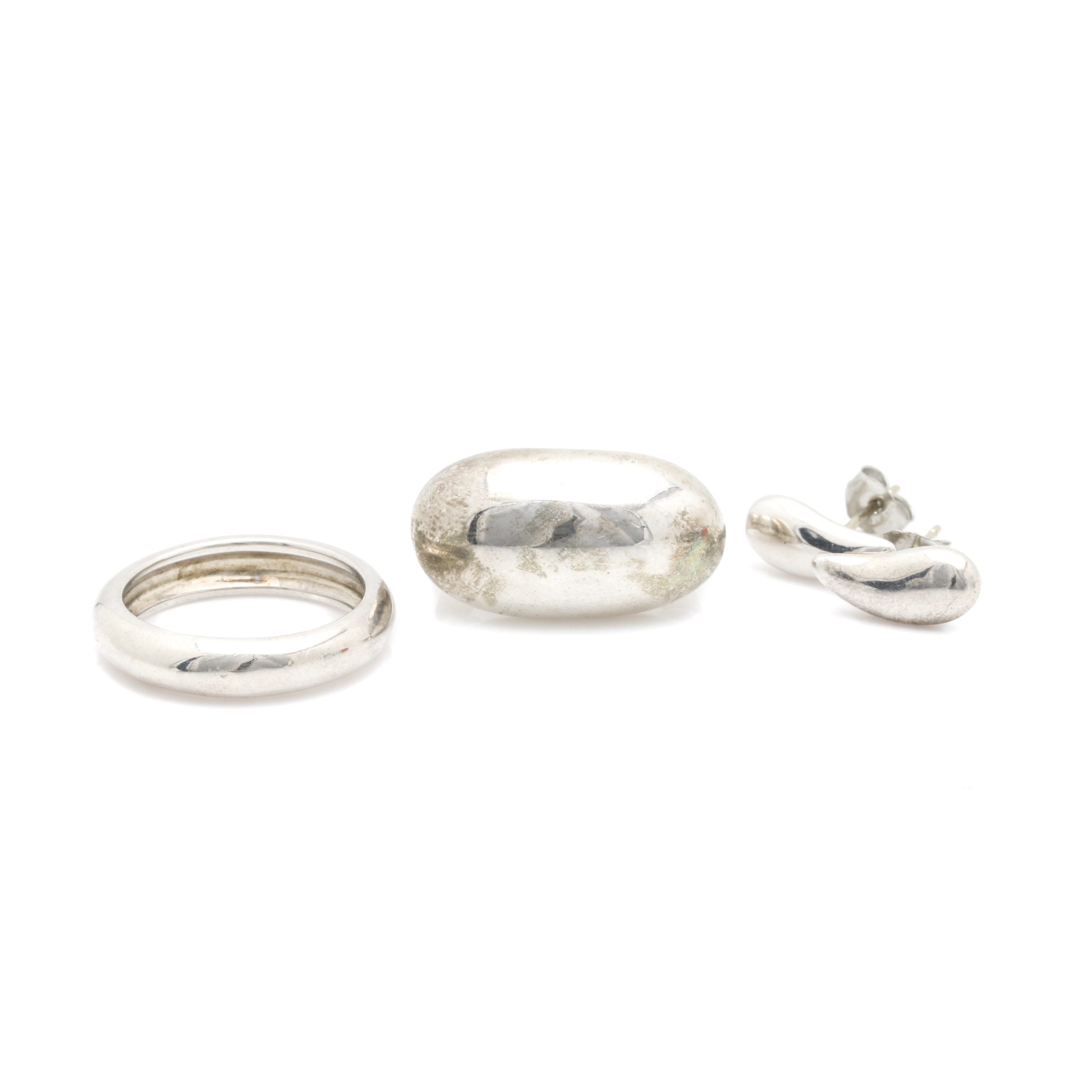 Bill Schiffer Sterling Silver Earring and Ring Selection