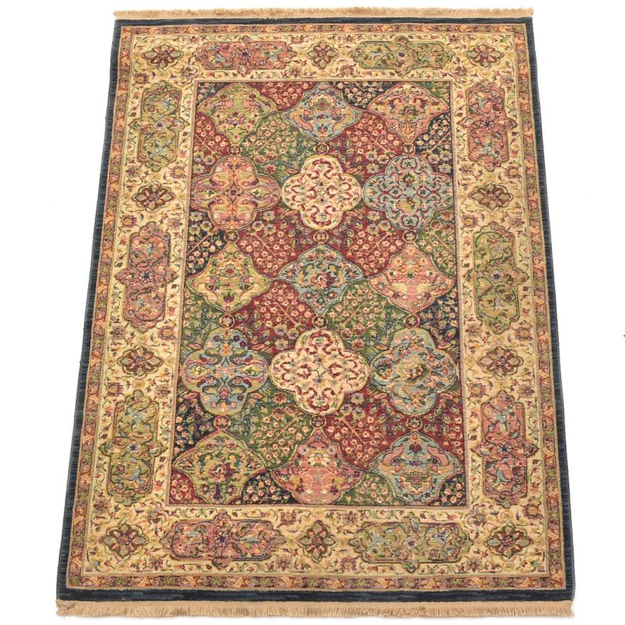 Persian Hand Woven Bakhtiari Style Wool Area Rug Ebth: Power Loomed Persian Style Wool Area Rug