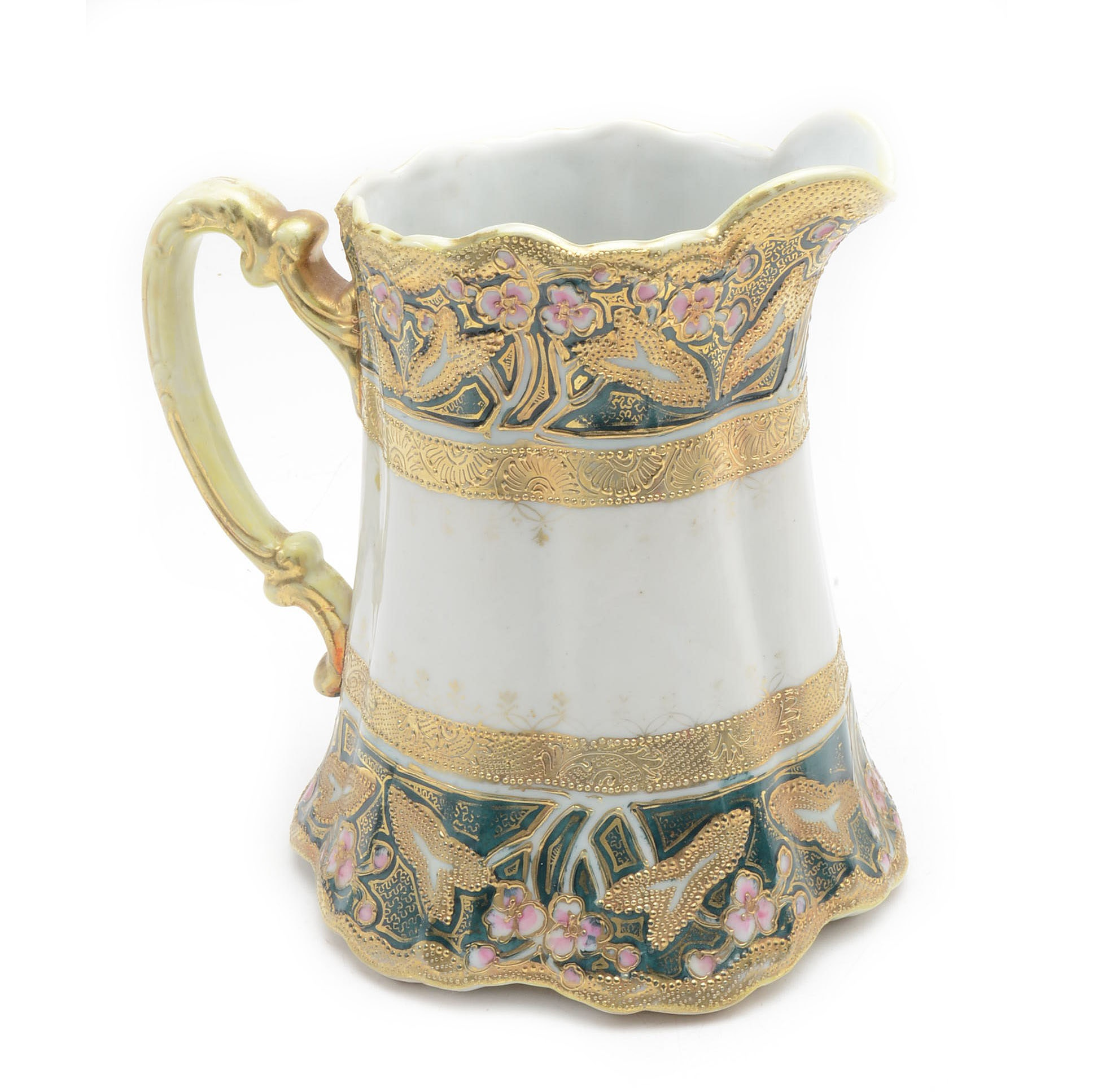 Vintage Moriage Decorated Nippon Pitcher