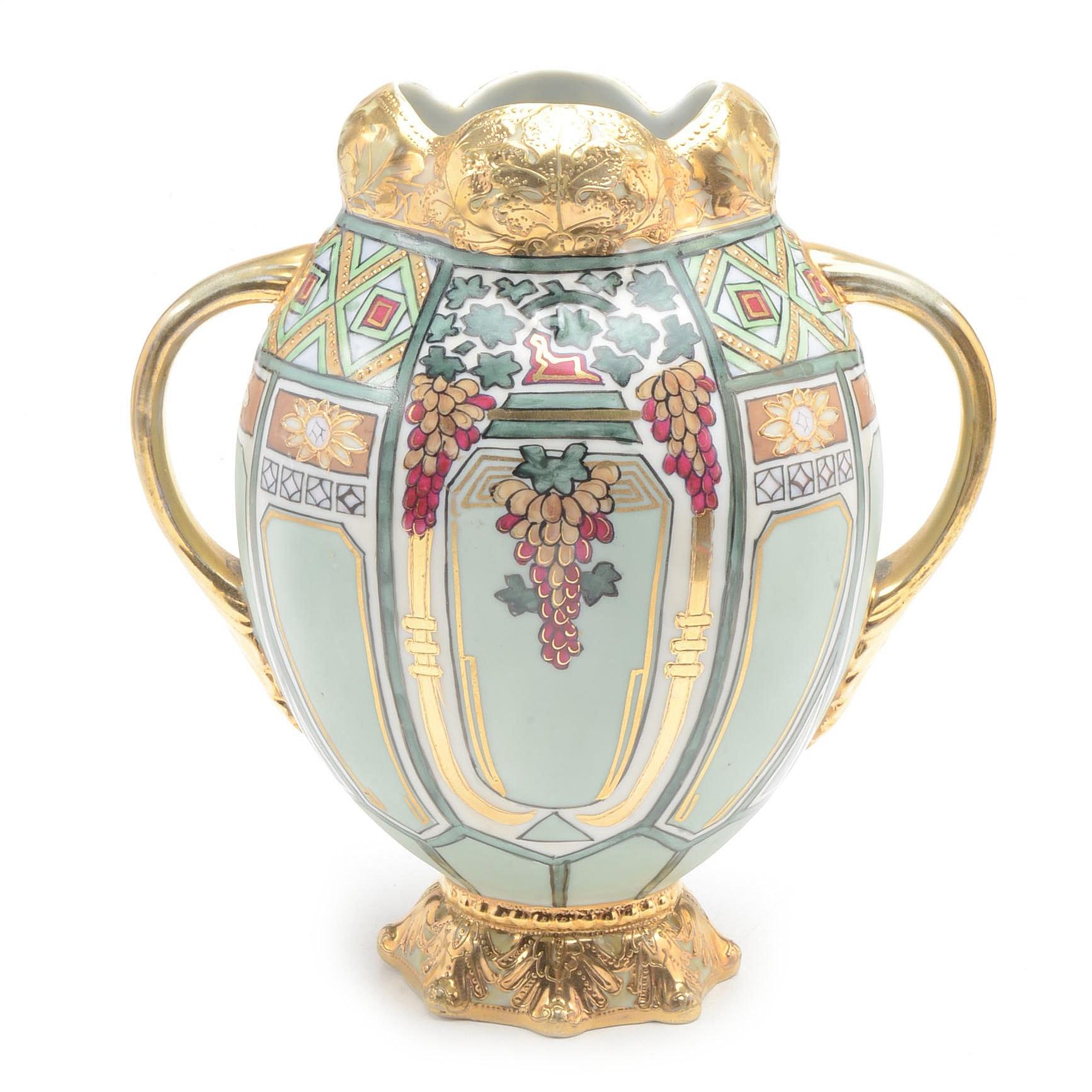 Vintage Art Nouveau Nippon Noritake Vase