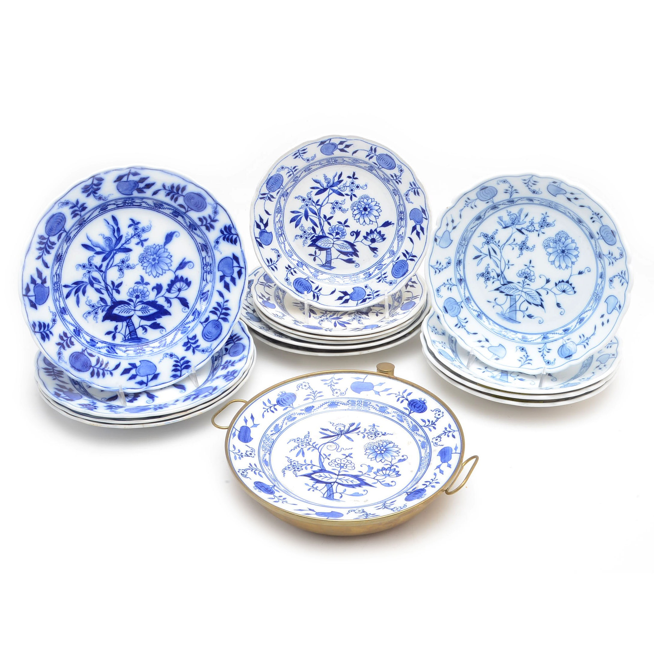 """Blue Onion"" Tableware including Carl Teichert and English Meissen"