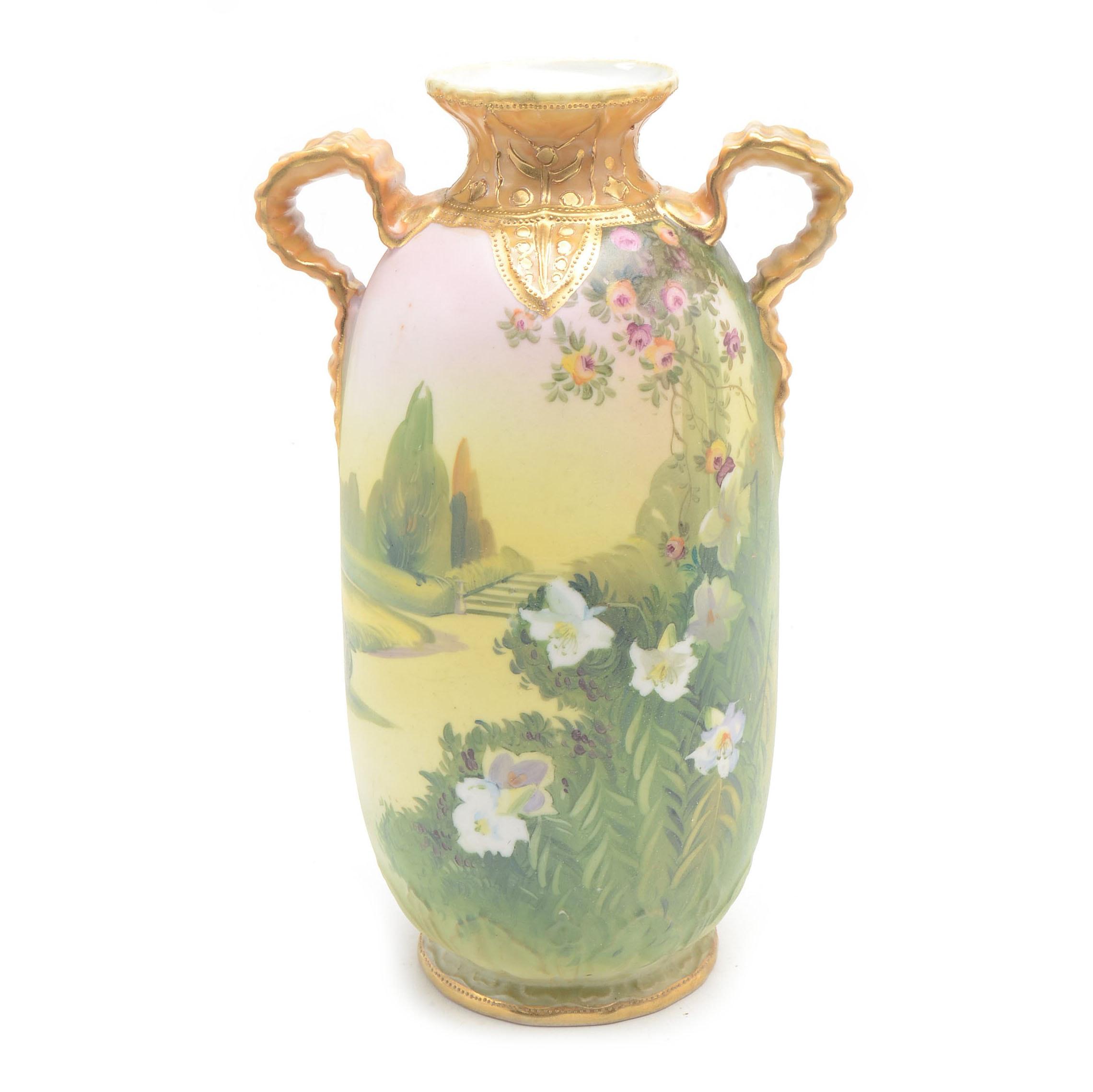 Vintage Hand-Painted Nippon Noritake Vase