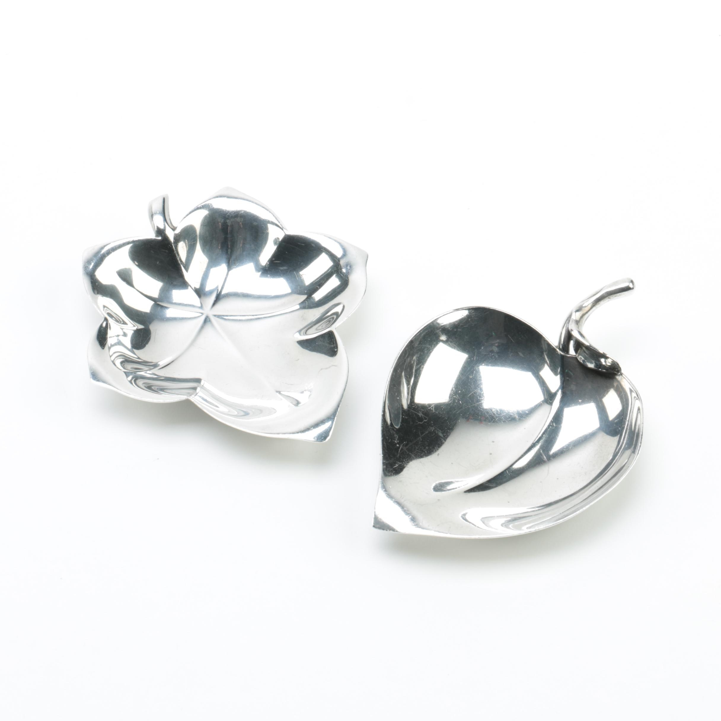 Tiffany & Co. Sterling Silver Leaf Shaped Nut Dishes