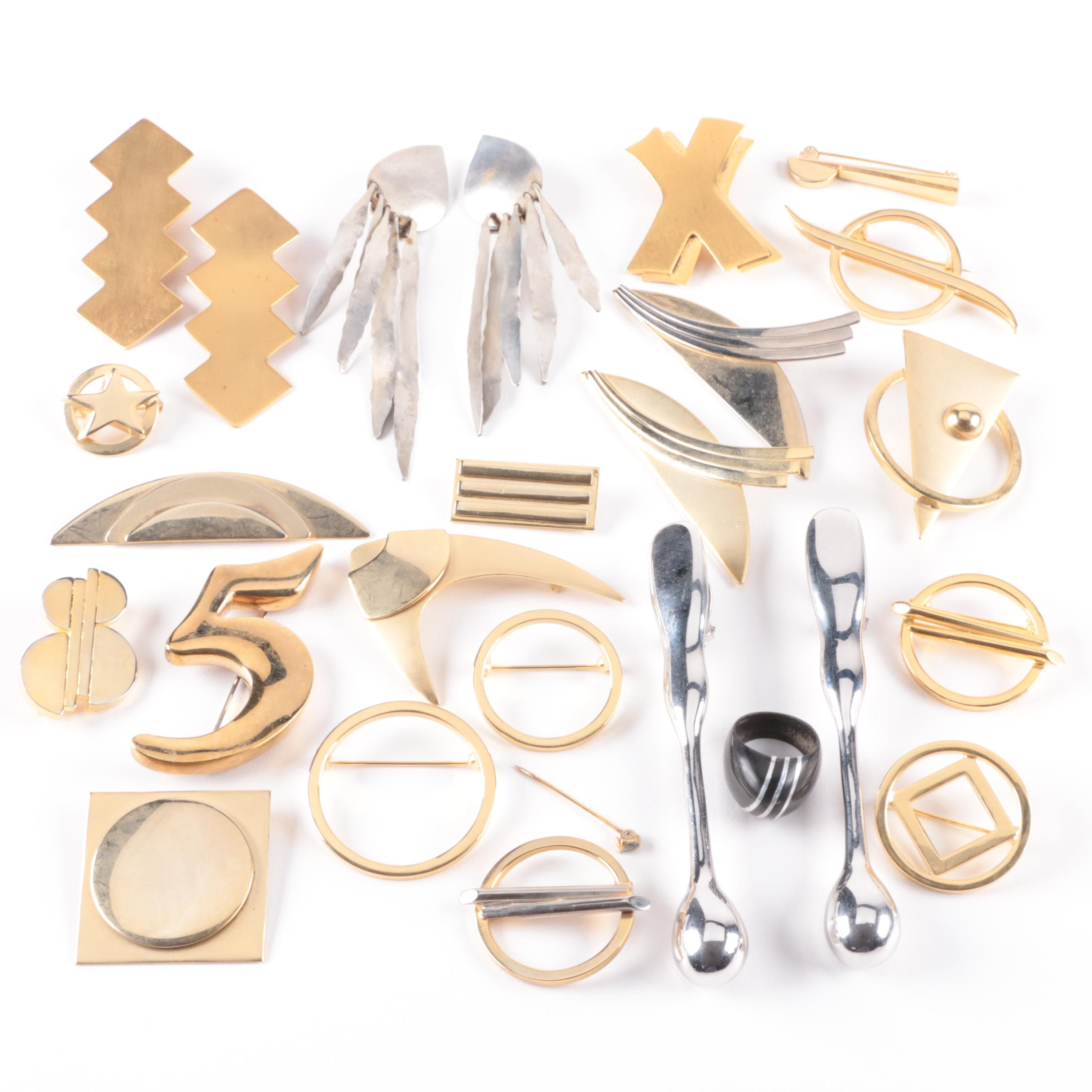 Assortment of Jewelry Including Bill Schiffer