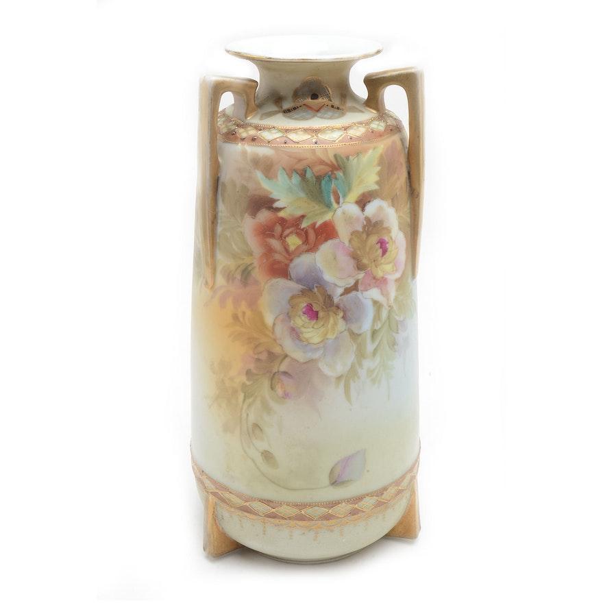 Vintage Hand Painted Bibi Nippon Vase Ebth