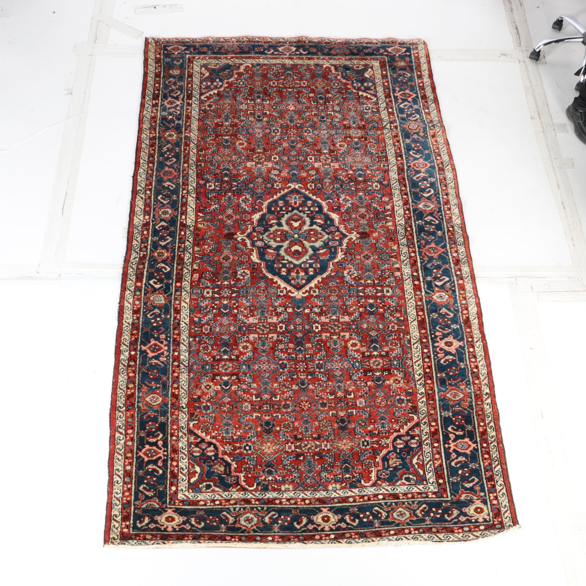 Hand-Knotted Persian Bijar Long Rug