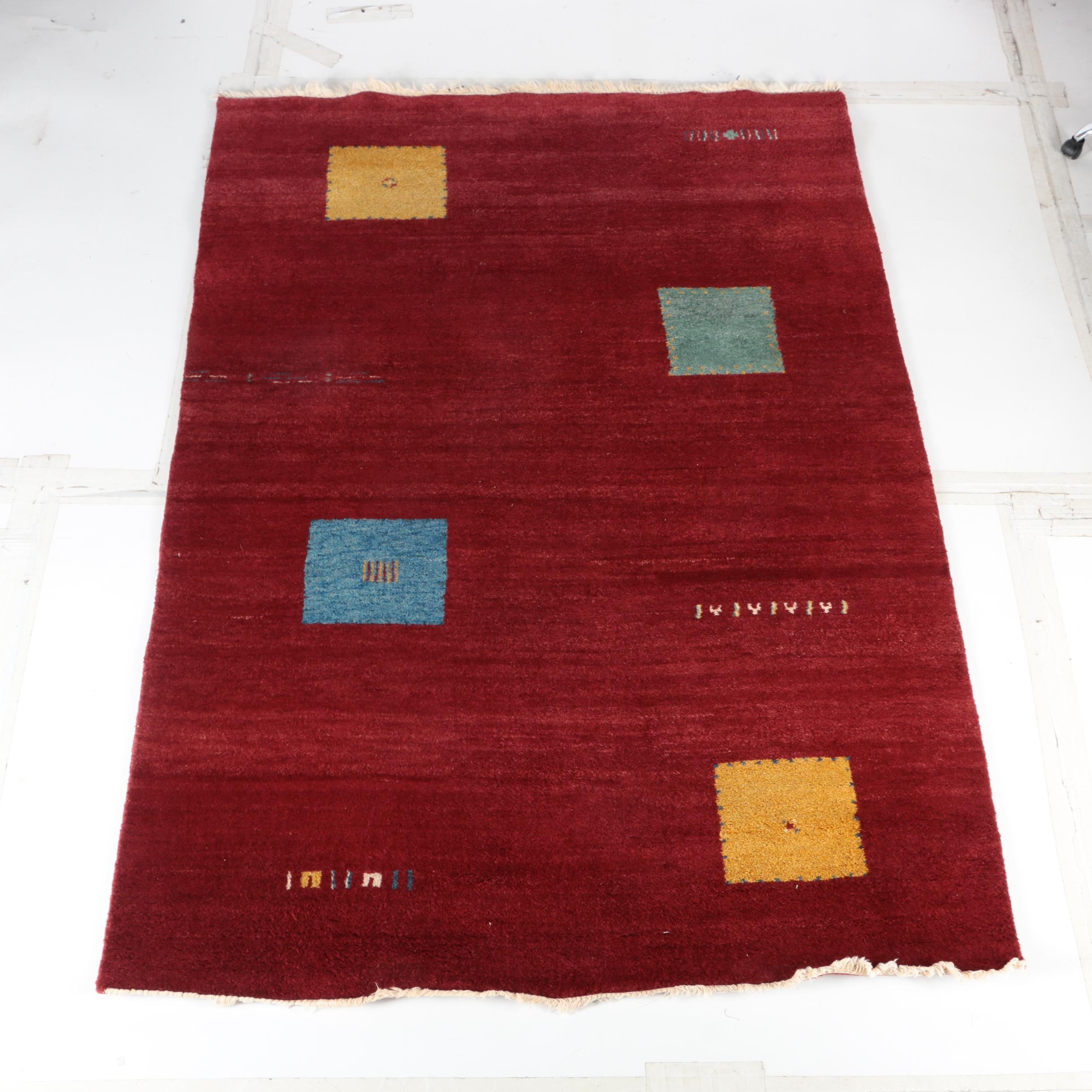 Hand-Knotted Persian Gabbeh Area Rug