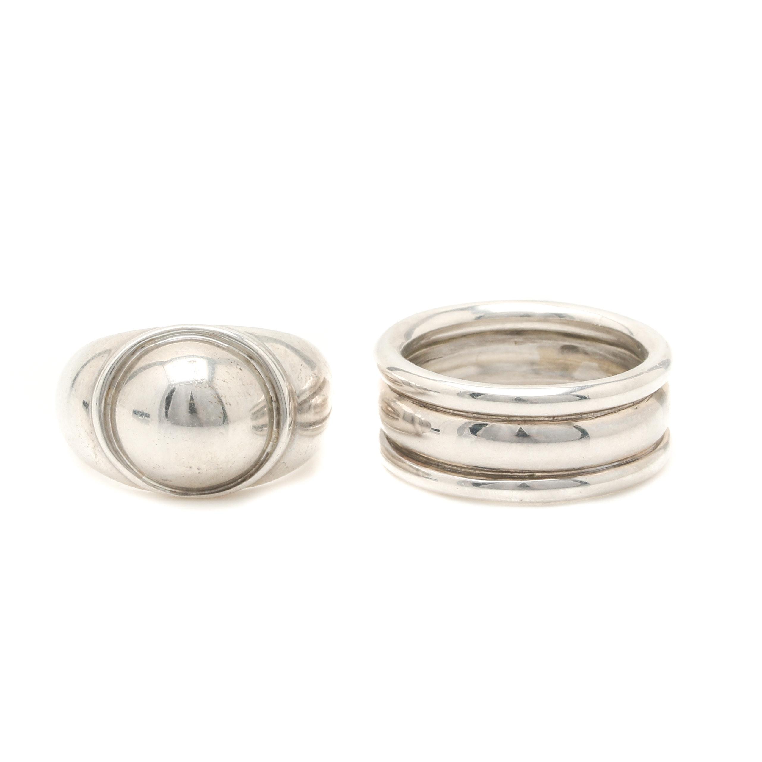 Bill Schiffer Sterling Silver Rings