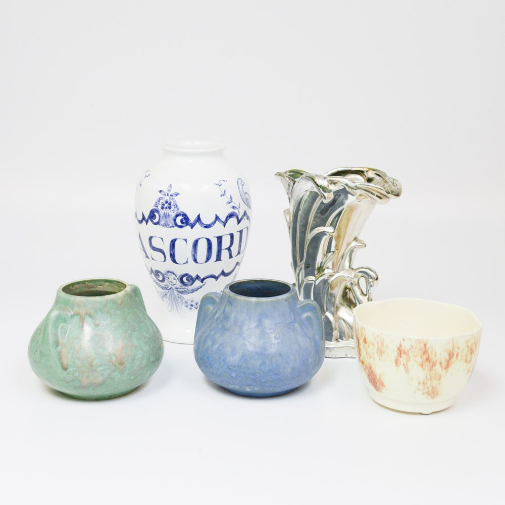 American Art Pottery with Brush-McCoy Vases