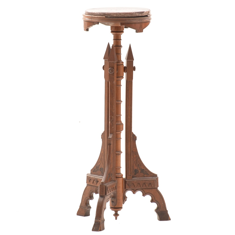 Victorian Marble Top Plant Stand