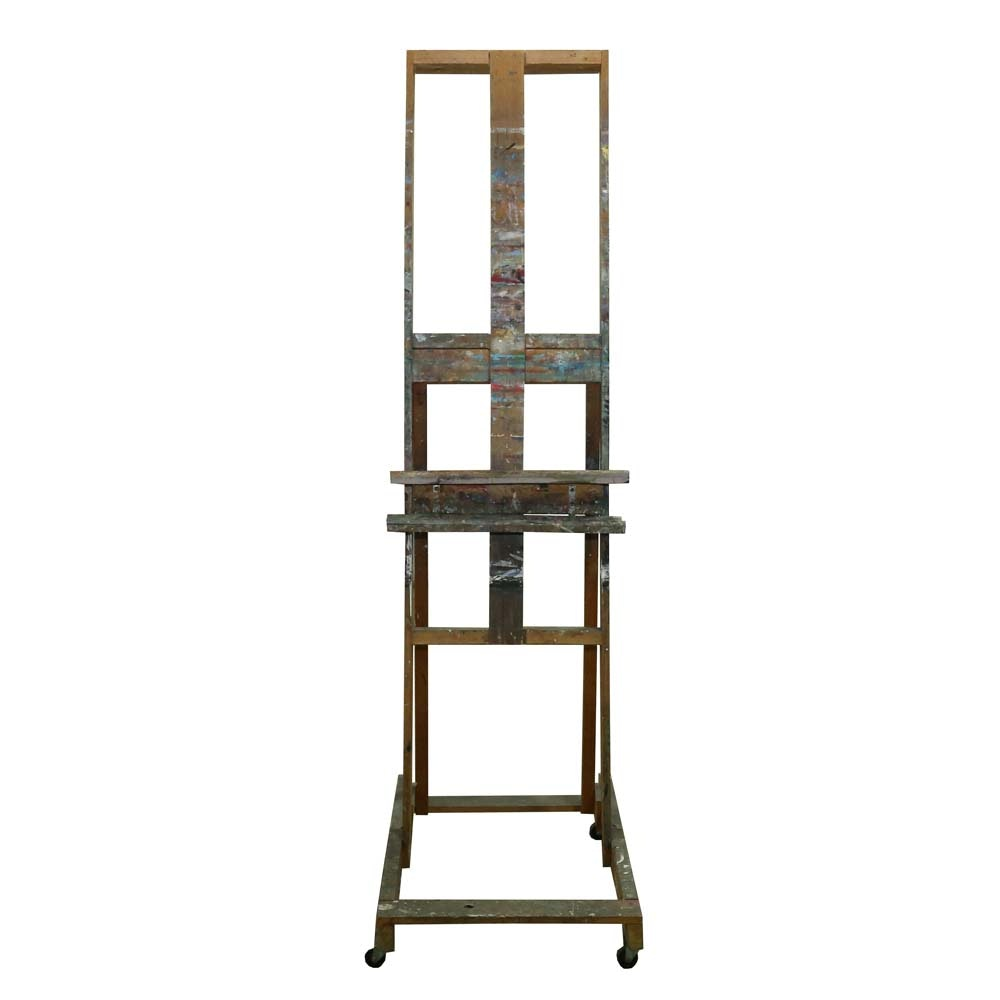 Large Wooden Rolling Easel