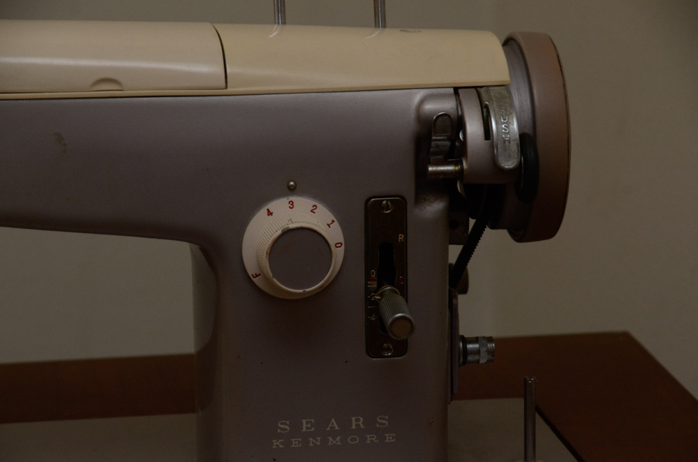 Sears Kenmore Model 52 Sewing Machine With Cabinet