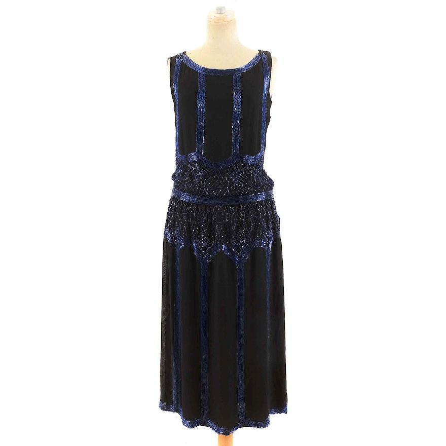 1920s Vintage Art Deco Hand-Beaded Evening Dress : EBTH