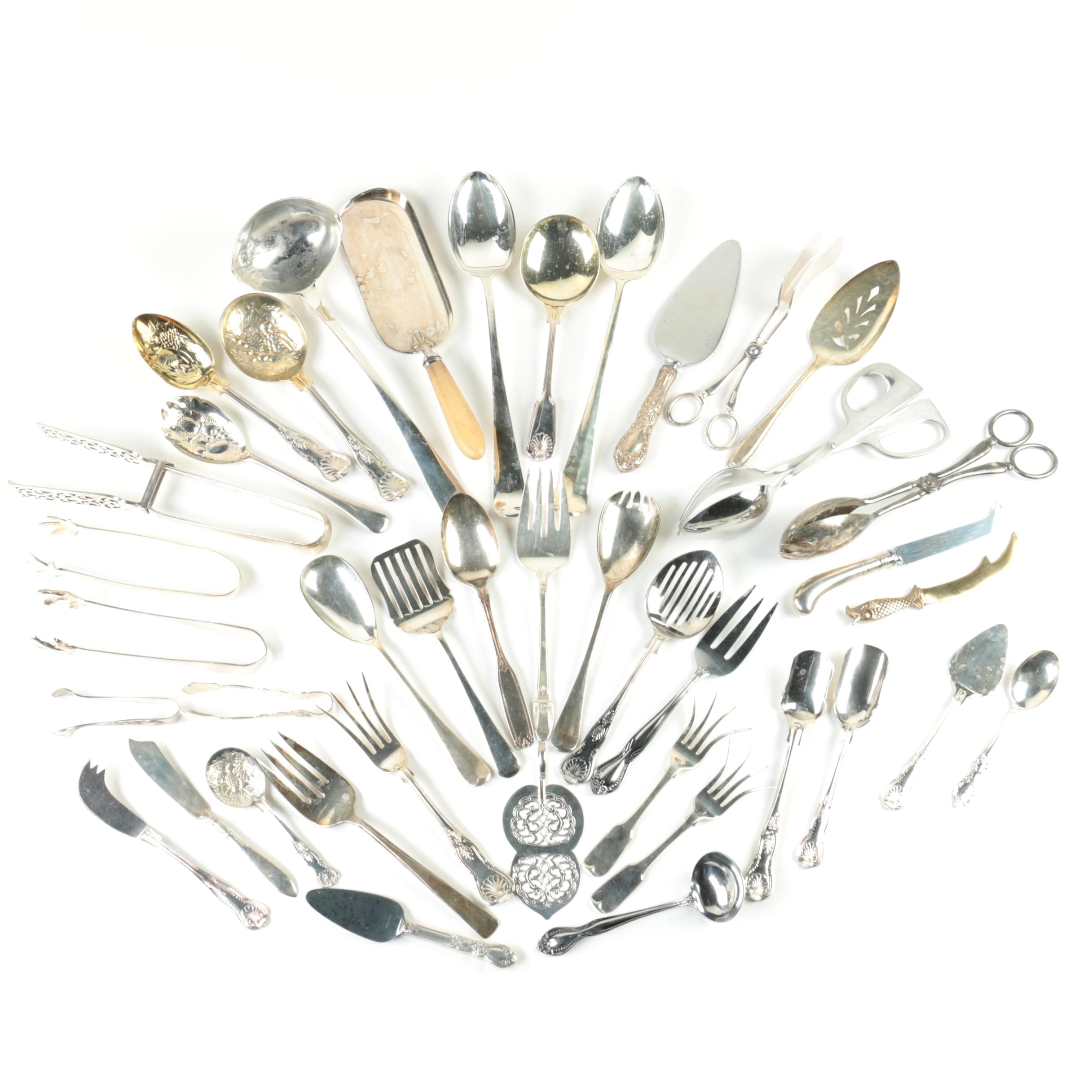 Silver Plate and Stainless Steel Serving Utensils