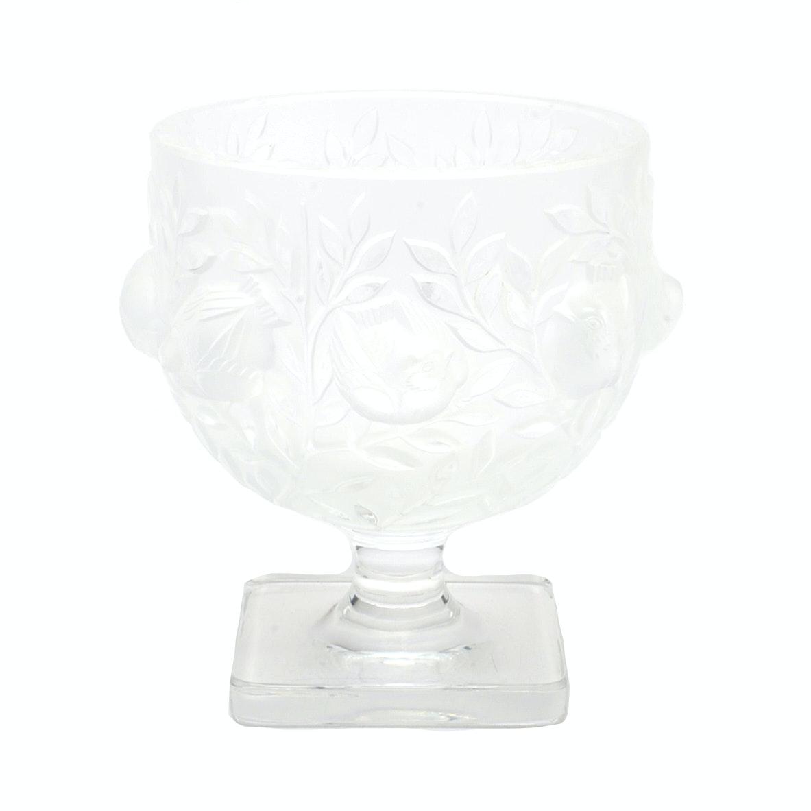 """Lalique """"Elizabeth"""" Compote"""