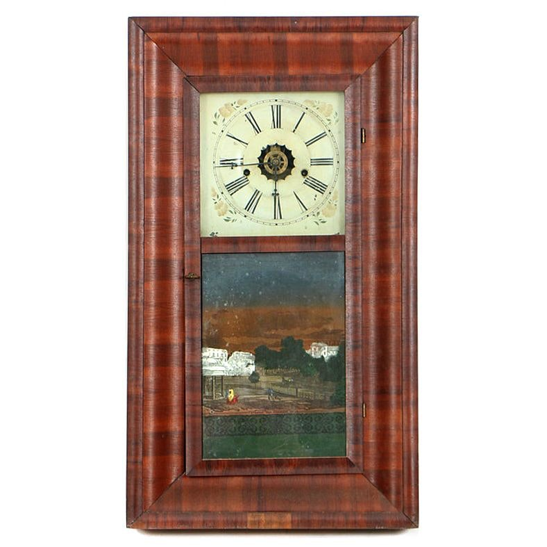 Antique Ogee Mantel Clock by E.N. Welch, Circa Mid 19th Century