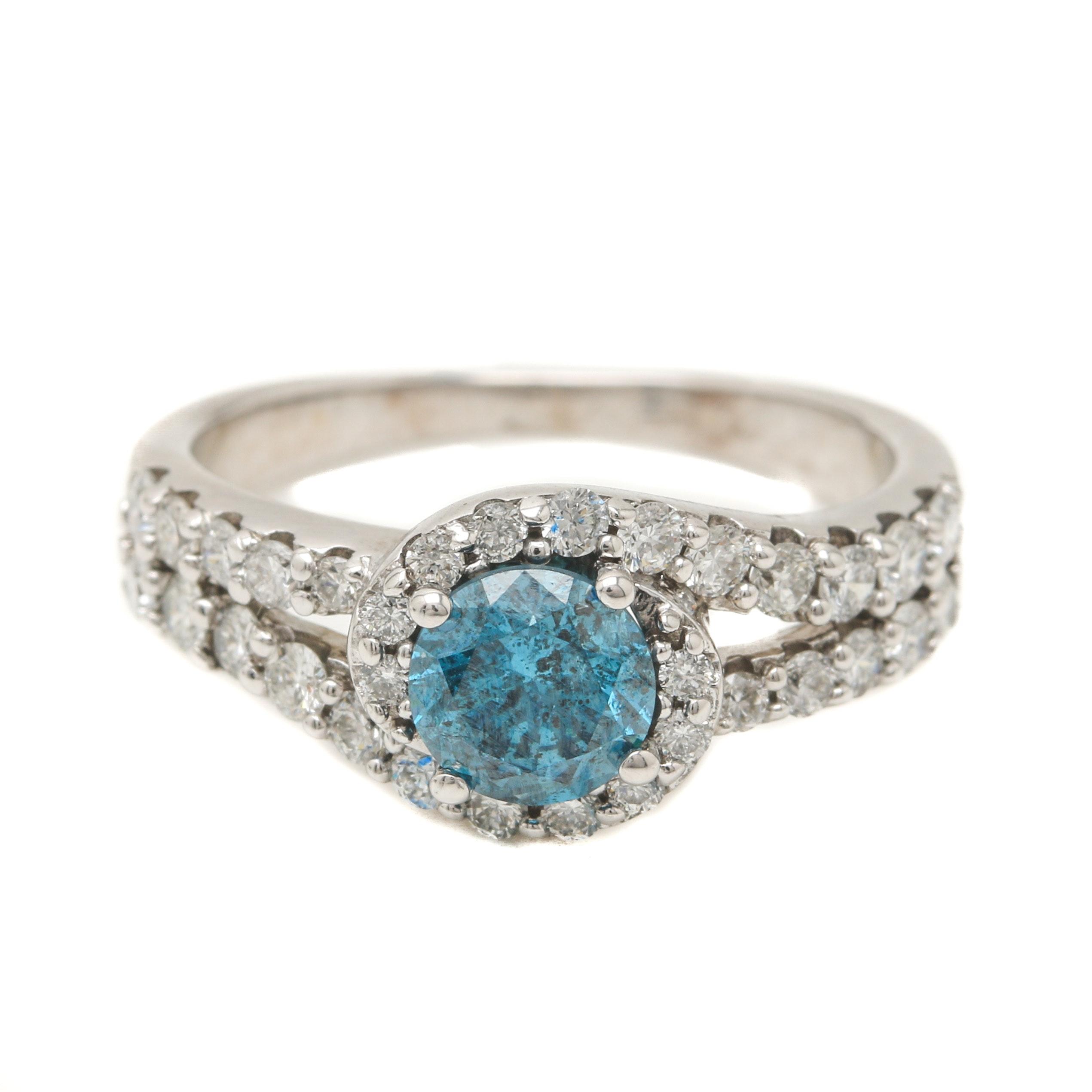 14K White Gold 1.43 CTW Diamond Ring