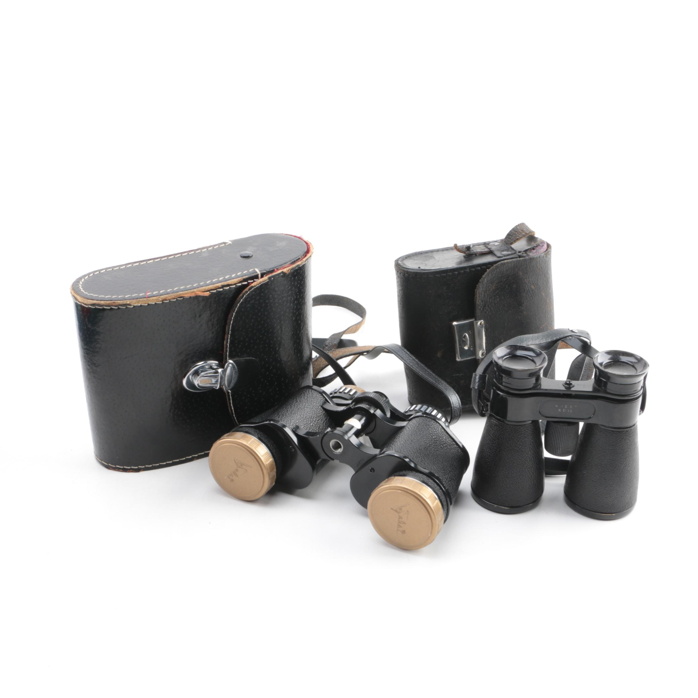 Solsi And Wuest Binoculars With Cases