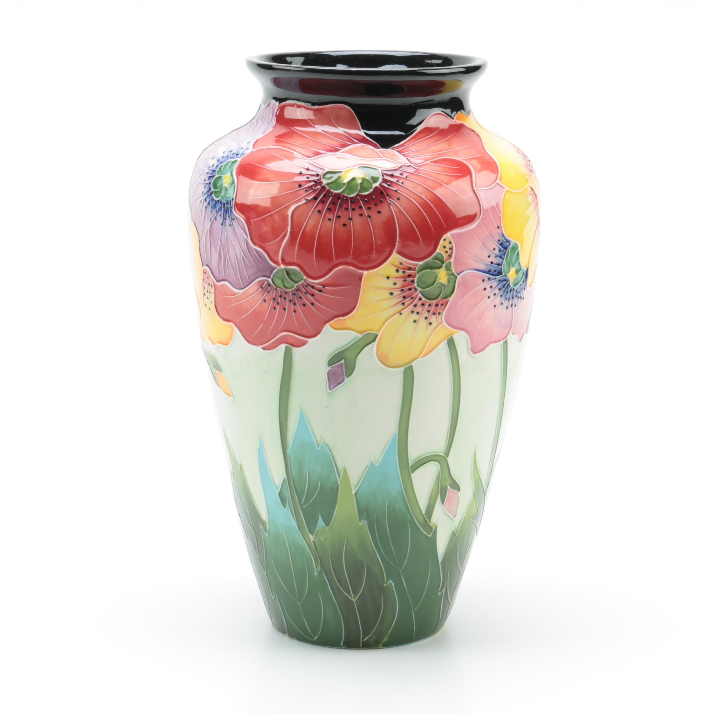 """Jeanette McCall Blue Sky Ceramic """"Poppy"""" Vase"""