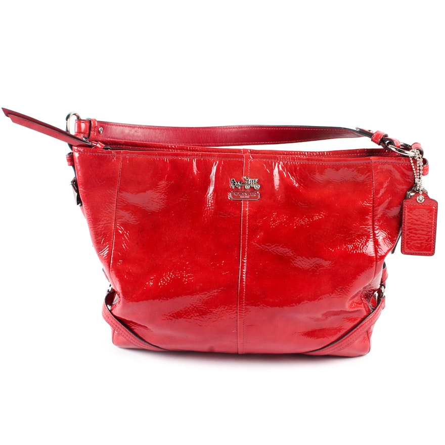 Coach Chelsea Red Patent Leather Handbag