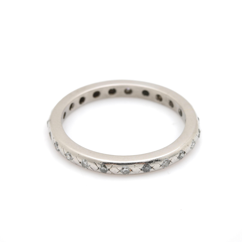 Palladium Diamond Ring