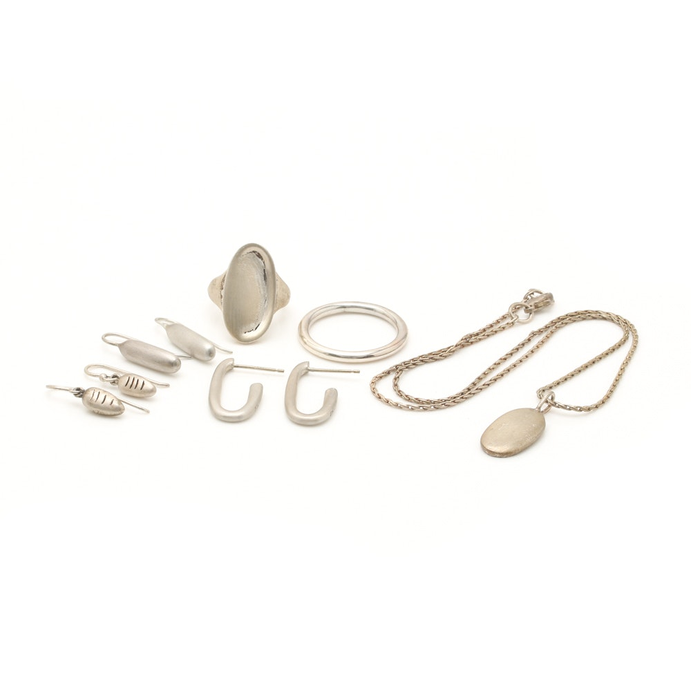 Collection of Bill Schiffer Sterling Silver Jewelry