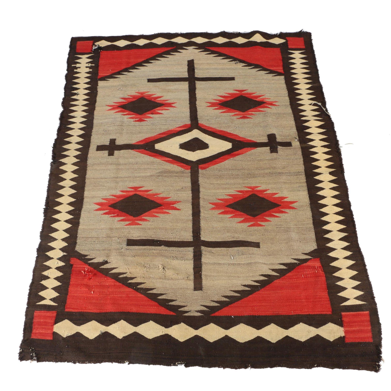 Native American Navajo Style Wool Area Rug