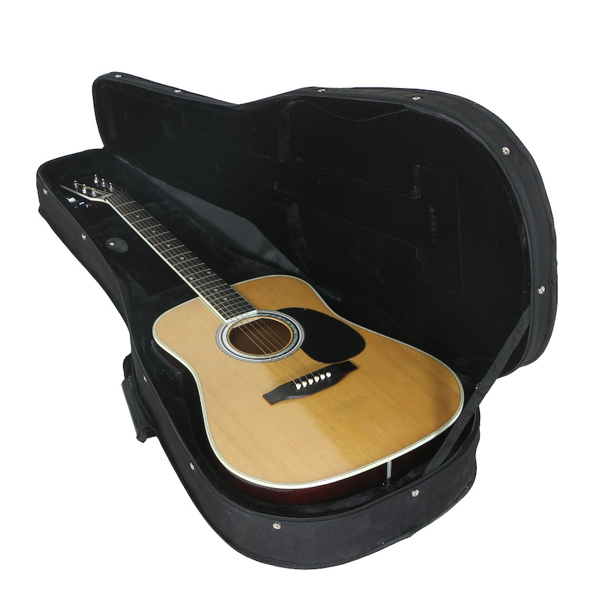Esteban American Legacy AL 100 Acoustic Electric Guitar With Case