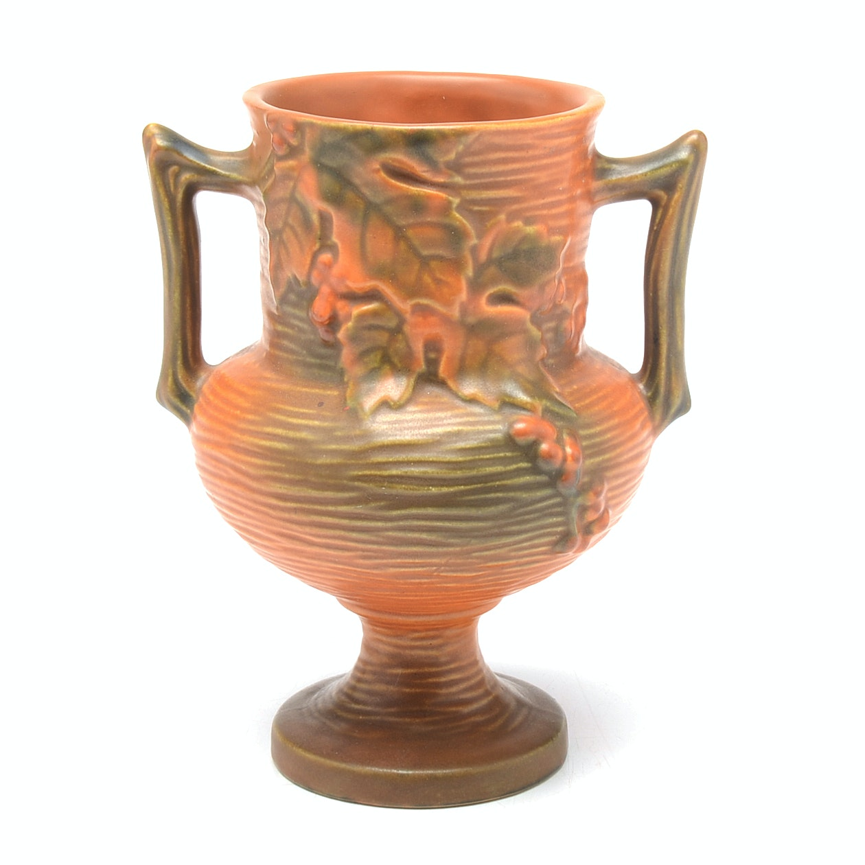 "Roseville Pottery ""Bushberry"" Trophy Vase"