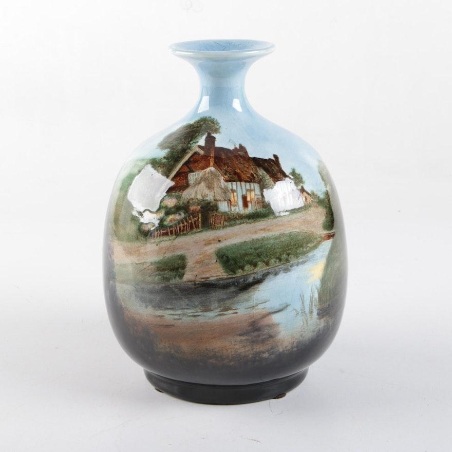 Hand Painted Porcelain Bud Vase Ebth