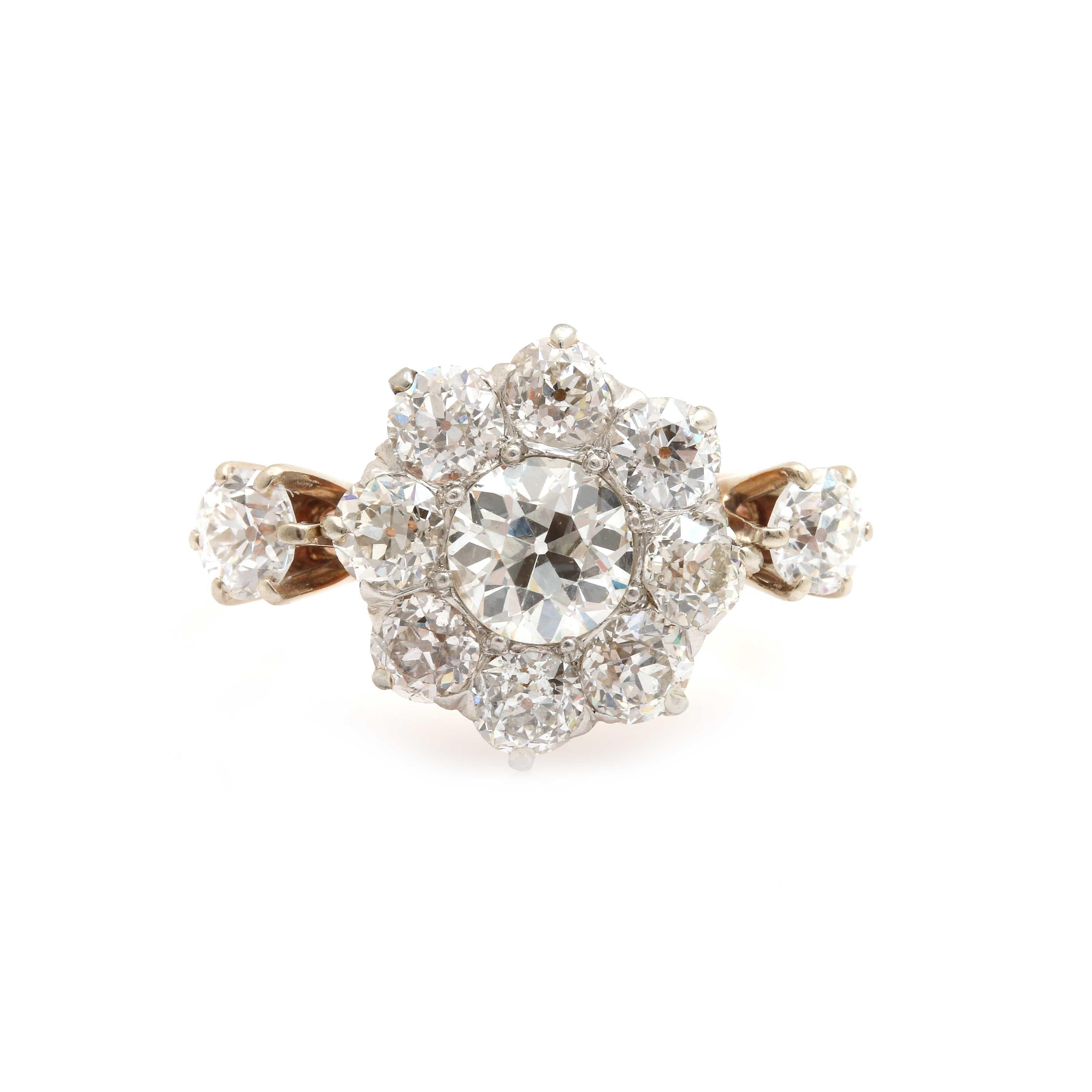 14K Yellow Gold 1.78 CTW Diamond Ring