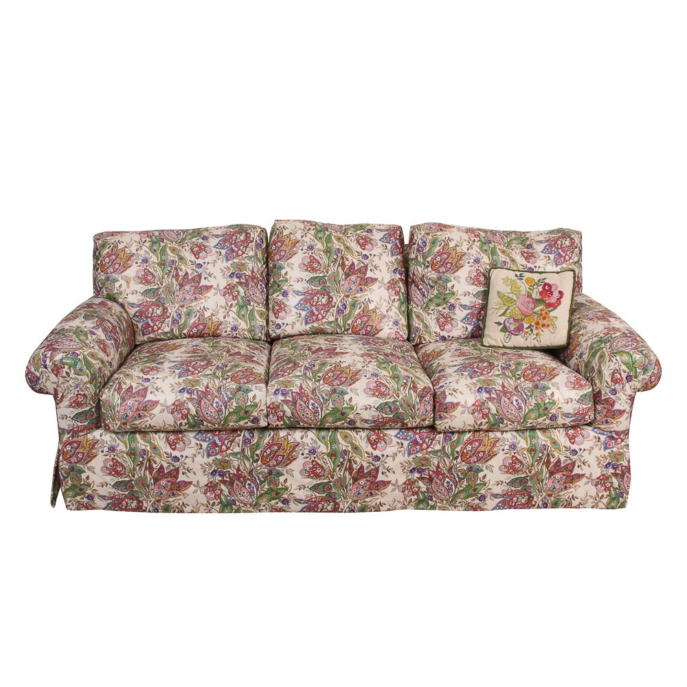 Floral Upholstered Sofa by R. Jones