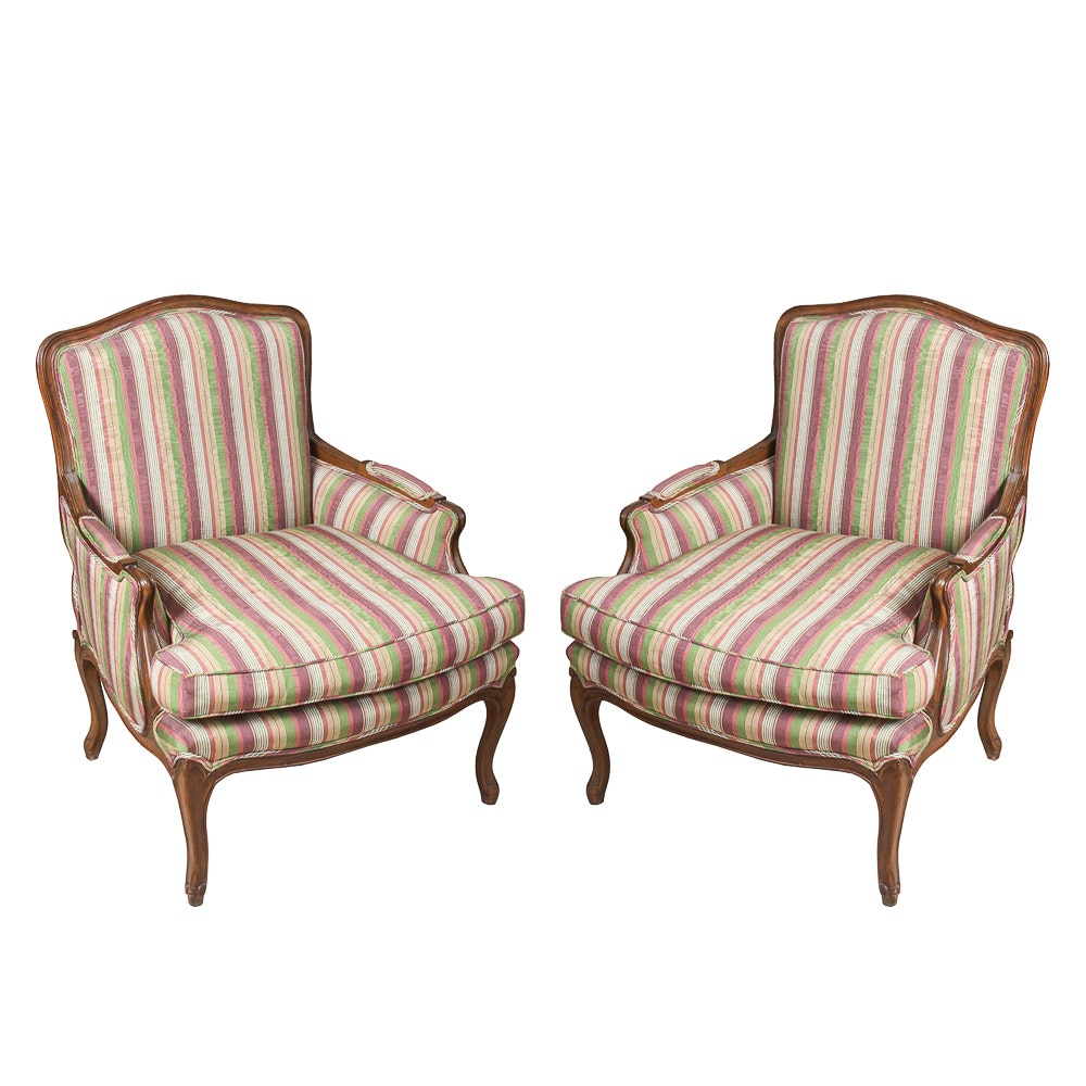 Pair of Louis XV Style Bergère Chairs