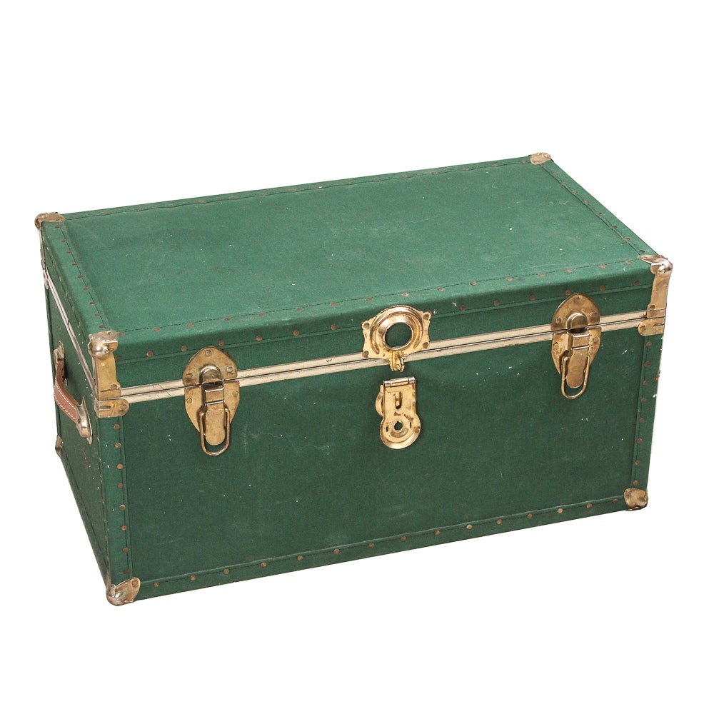 Green Upholstered Trunk with Ceder Lining