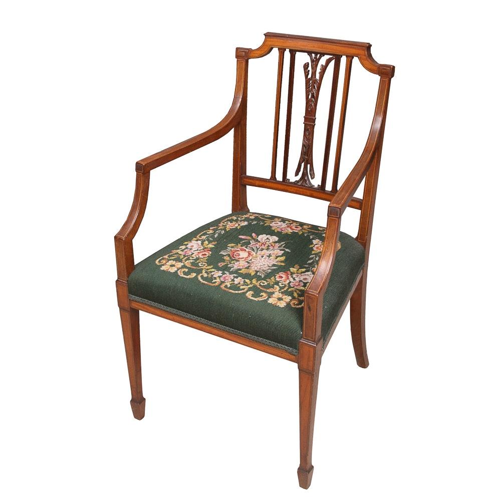 Antique Hepplewhite Style Armchair
