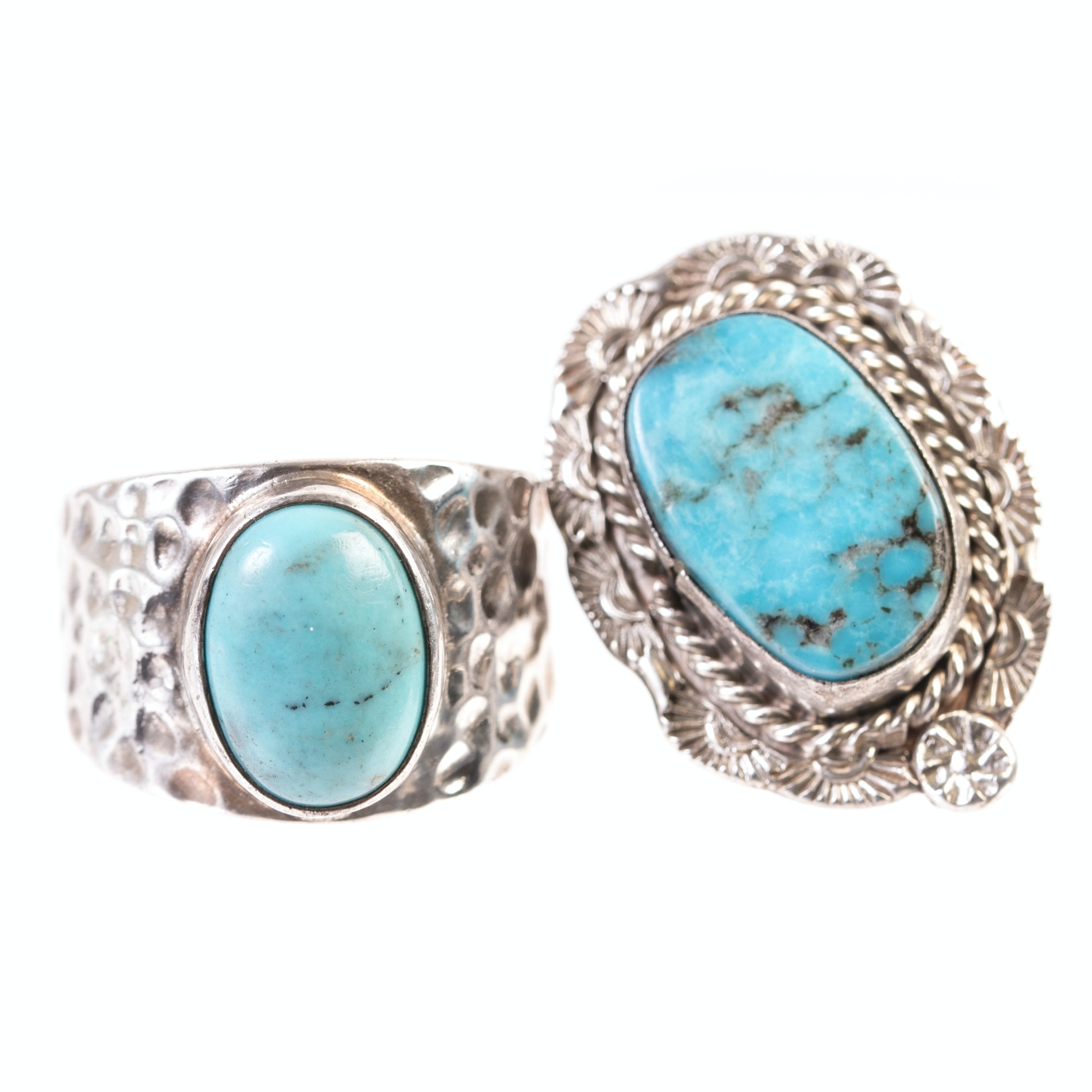 Sterling Silver and Turquoise Fashion Rings