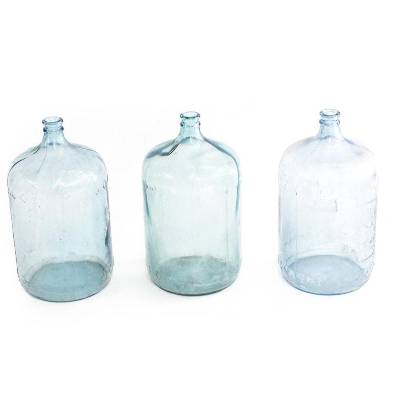 Vintage Arrowhead Glass Water Jugs