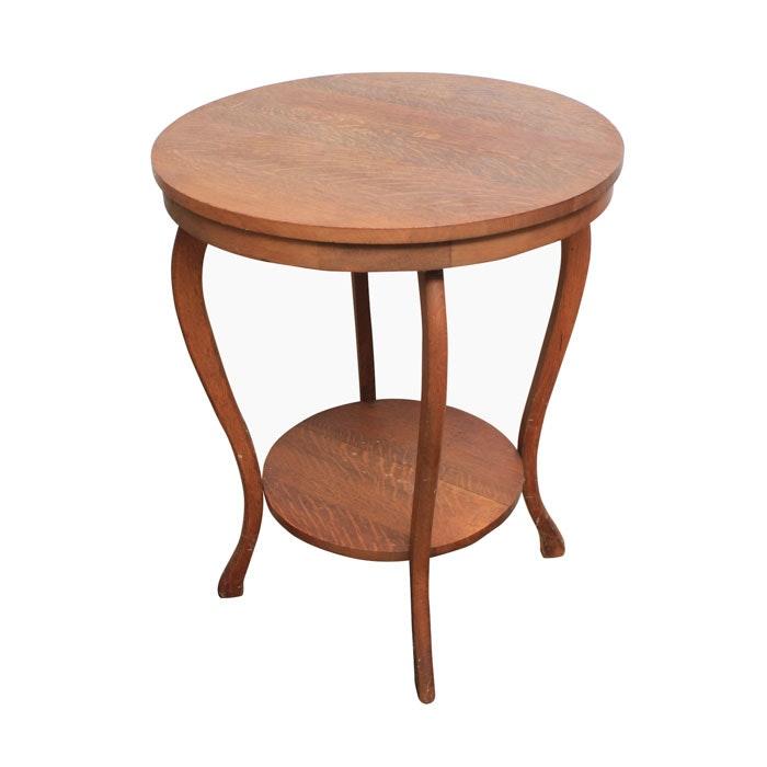 Vintage Oak Accent Table