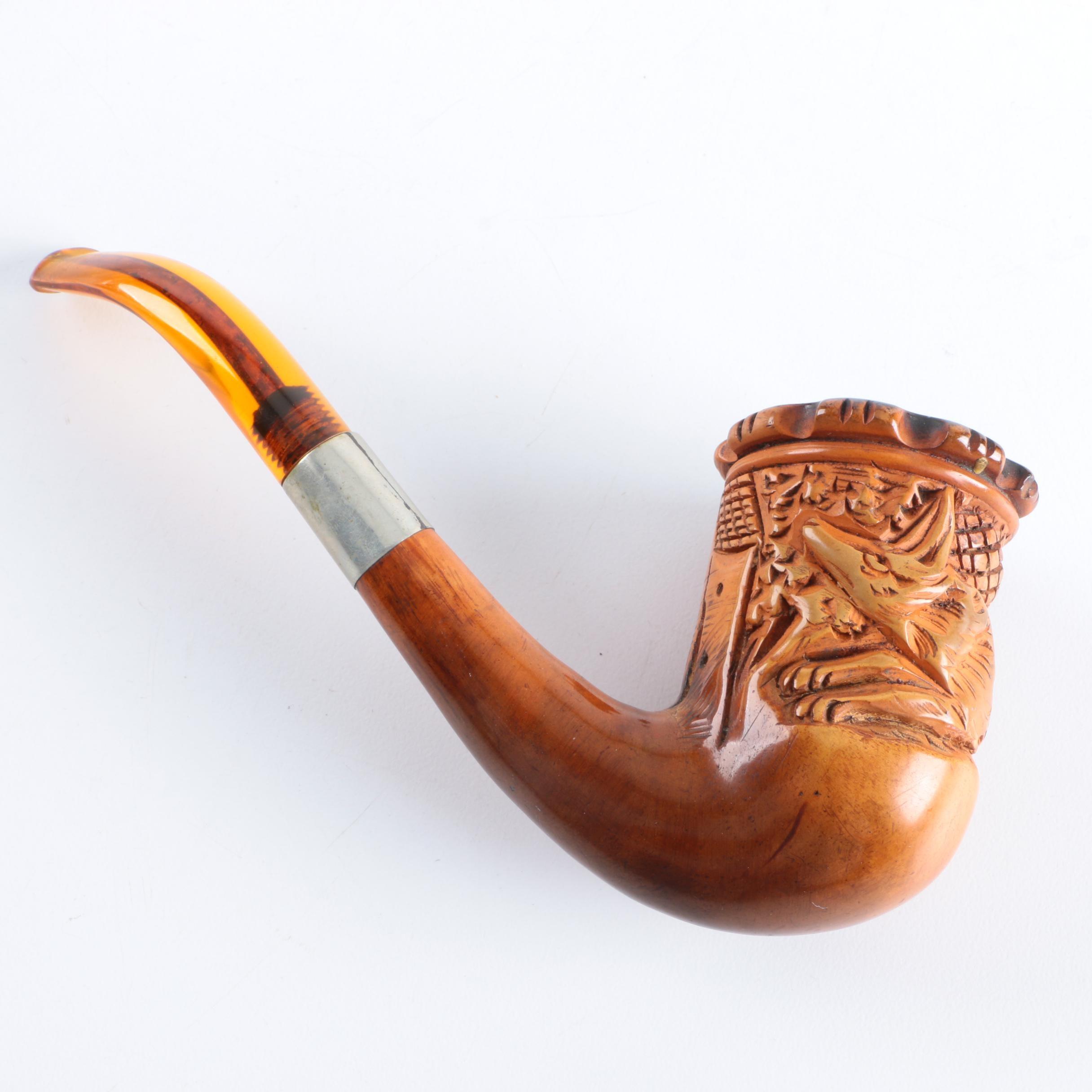 Vintage Carved Smoking Pipe