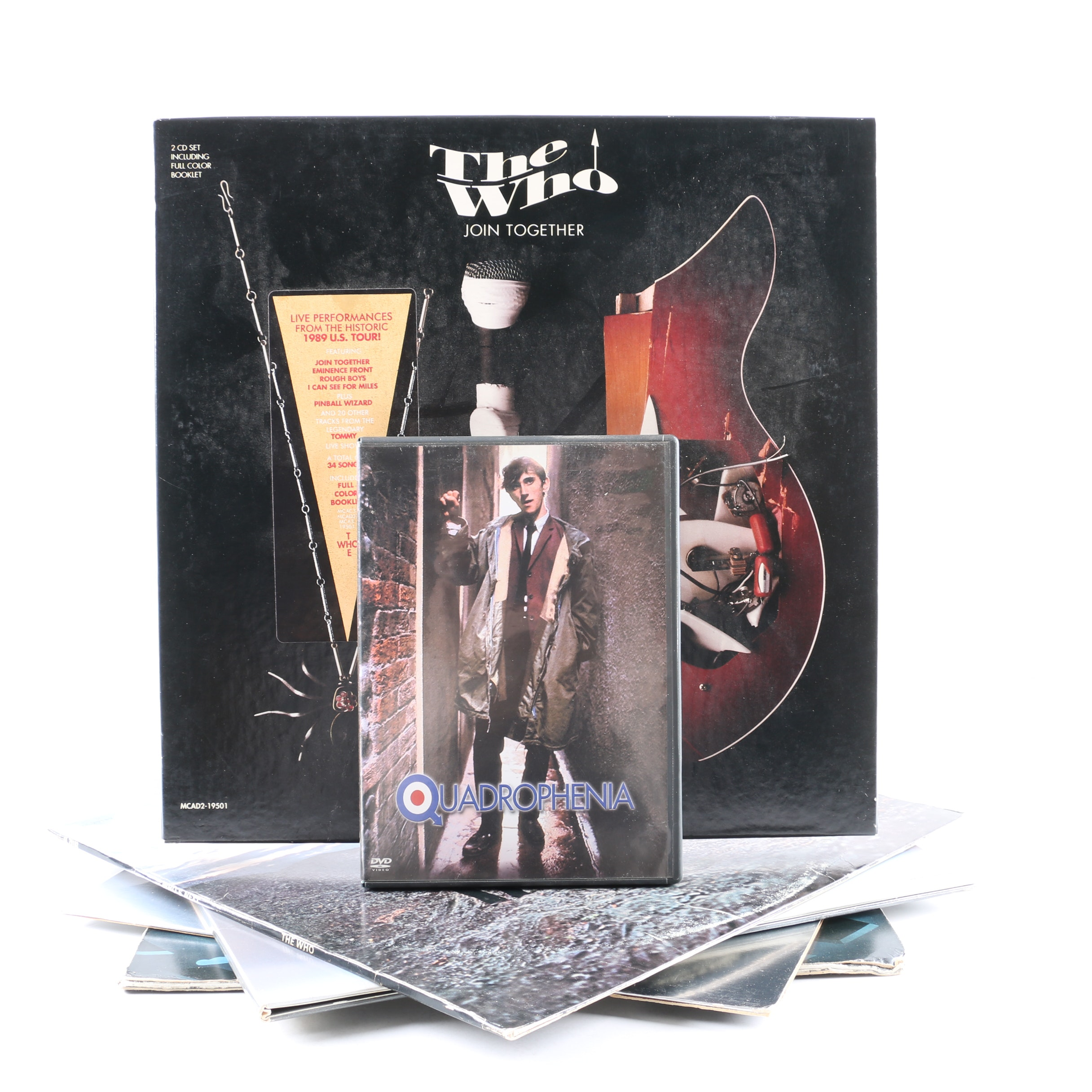 """The Who LPs, CD Box Set, and DVD Including """"Tommy"""", """"Who's Next"""", """"Quadrophenia"""""""